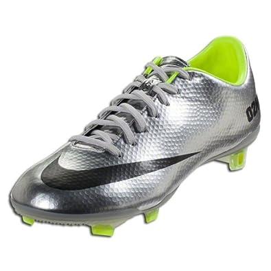 Nike MERCURIAL VAPOR IX FG Mens Soccer Metallic Silver Volt Black US sz. by Nike