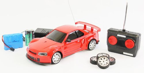 1:18 Scale RTR Remote Control Full Function Skyline GTR Drift car with Rechargeable Batteries