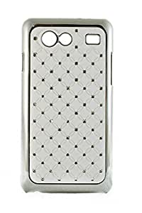 Purple Eyes Sparking Studed Glossy hard Back Case for Samsung Galaxy S Advance i9070 White
