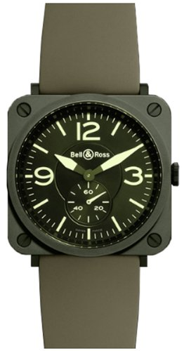 Bell & Ross Aviation Br-S Quartz Midsize Watch Brs-Military-Ceramic