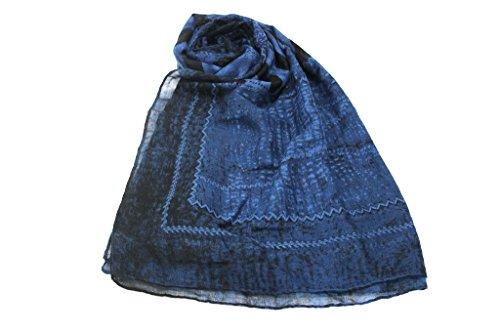 Sciarpa donna Lancetti pashmina l.jungle x3392 jeans
