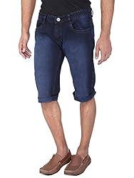 WineGlass Non-Strechable Shorts Fit Men's Blue Jeans 366DK Size -38