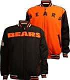 Chicago Bears Men's Reversible Letterman Jacket, Large
