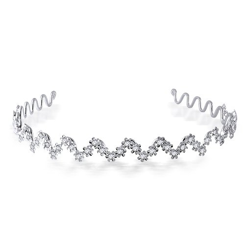 Bling Jewelry Wavy Flower Bridal Tiara Headband [Jewelry]