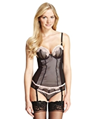 Limited Collection Mesh Floral Lace Push-Up B-D Basque