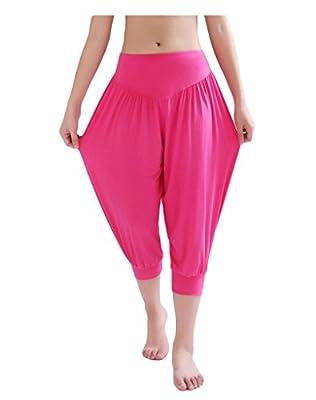 Busyfish Women's Yoga Herem Pants Belly Dance Fitness Workout Short Pants