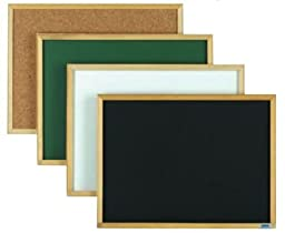 Aarco Products EC3648G Economy Series Wood Frame Chalkboard - Green