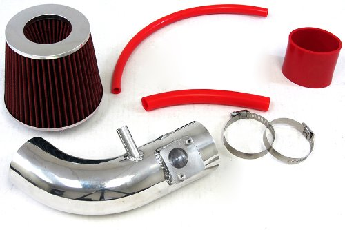 12-14 Honda Civic Si 2.4L 9Thgen Polish Shortram Air Intake Kit Short Ram Cool Red Filter front-525623