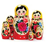 Russian Matryoshka Nesting Dolls (7 pieces) Design/color may vary.by Tobar