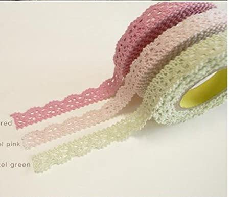 Craft adhesive tape- 3 Rolls Rural wind only beautiful multi-function adornment Masking Lace Tape Washi