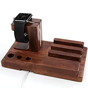 Apple Watch Wood Charging Stand Bracket Docking Holder for Both 38mm and 42mm