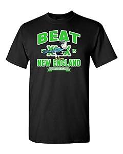 Beat New England Seattle Football Fan Wear DT Adult T-Shirt Tee
