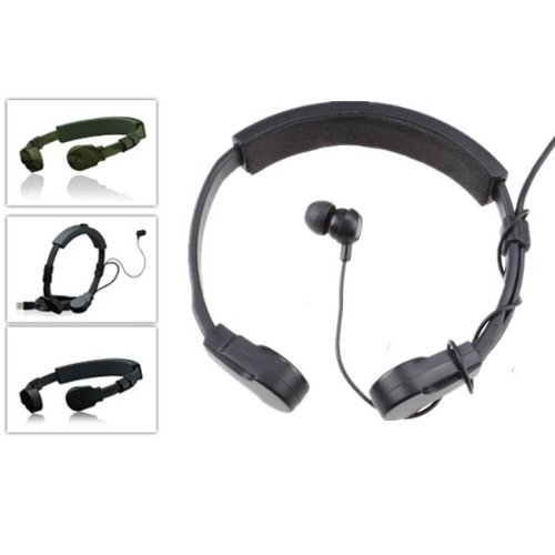 Agptek® Throat Mic Headset For Ps3 Black With 20Ft Usb Cord