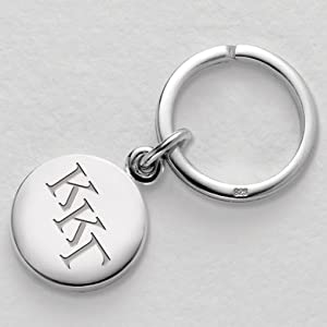Buy Kappa Kappa Gamma Sterling Silver Insignia Key Ring by M.LaHart & Co.