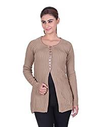 eWools Women's Brown Wool Sweater (758-eWools-Medium)