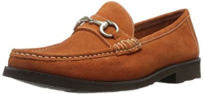 Florsheim Men's Tuscany Bit Slip-On Loafer,Orange Suede,7 D US