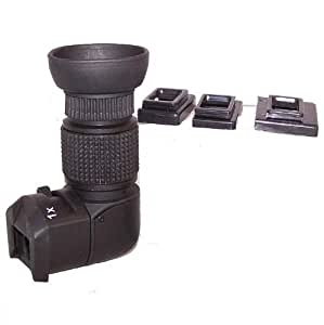 1-2X Right View Angle Finder for Canon 70D,60D,50D,40D,1100D,1200D,760D,750D,700D,650D,600D,7D,5D,1Ds Nikon D7100,D5300,D5200,D3200,D3300,D90,Olympus,Pentax Leica Contax DSLR Camera