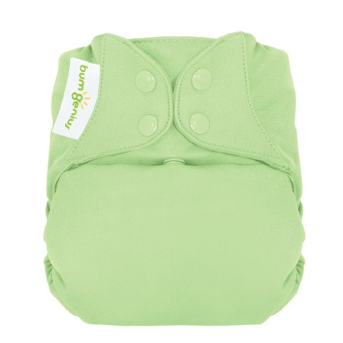 Bumgenius Freetime All In One Cloth Diaper - Snap - Grasshopper - One Size front-568516