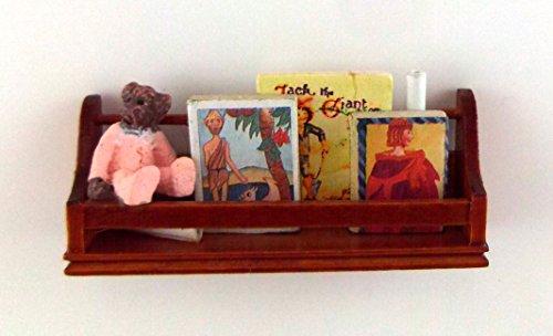 Puppenhaus Miniatur Schlafzimmer Zubehör Walnuß Regal Kinder Buch & Spielzeug Regal F