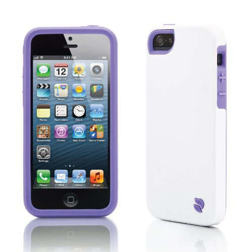 Innovez Eco Friendly Interchangeable iPhone 5 Case (White/Purple)