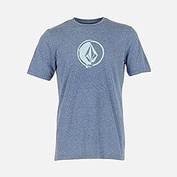 Volcom Men\'s Stacking Surf T-Shirt, Matured Blue, Medium