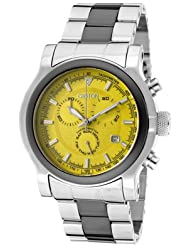 Men's Chronomaster Chronograph Yellow Dial Stainless Steel & Black Ceramic