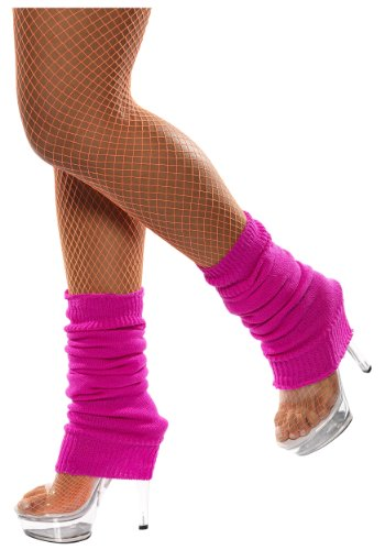 Neon Knitted Leg Warmers (Pink) for adults by Blue Banana