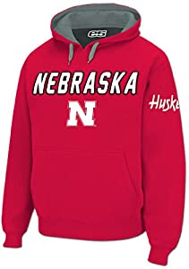 Nebraska Cornhuskers Mens Red Embroidered Combo Hooded Sweatshirt by E5