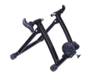 Soozier Folding Indoor Magnetic Bike Bicycle Trainer Stand - Black