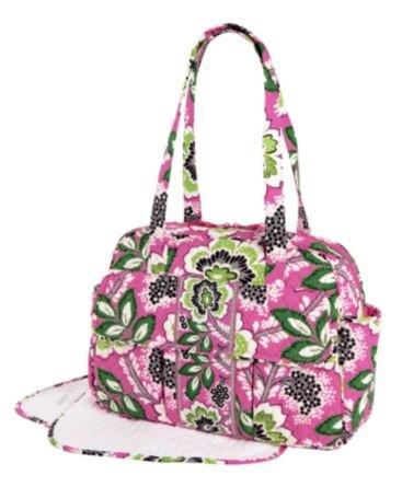 vera bradley baby bag in priscilla pink diaper bag nappy bags designer. Black Bedroom Furniture Sets. Home Design Ideas