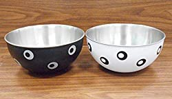 Liefde Micro oven safe stainless steel Plastic Coated Serving Bowls(Set of 2 Bowls)