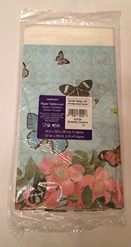 Amscan Butterfly Dreams Table Cover - 1