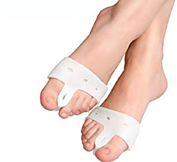 Dr Rogo Bunion Relief 2 Big Toe Protectors with Gel Secure Strap for Bunions Treatment Bunion Gel Toe Separators, Spacers, Straightener and Spreader for a Perfect Toe Alignment and Bunion Pain Relief