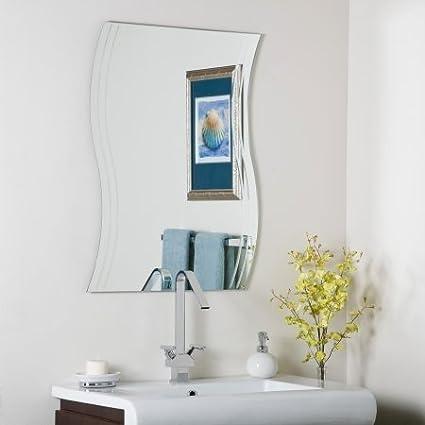 Decor Wonderland Frameless Wave Wall Mirror - 22W x 29.5H in.