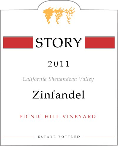 2011 Story Winery, Picnic Hill, Estate, California Shenandoah Valley Zinfandel 750 Ml
