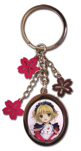 Tsubasa Sakura Flower Metal Keychain