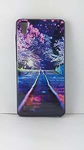 BlueArmor Sparkling Soft Back Cover Case For Lava Flair S1 Design 1