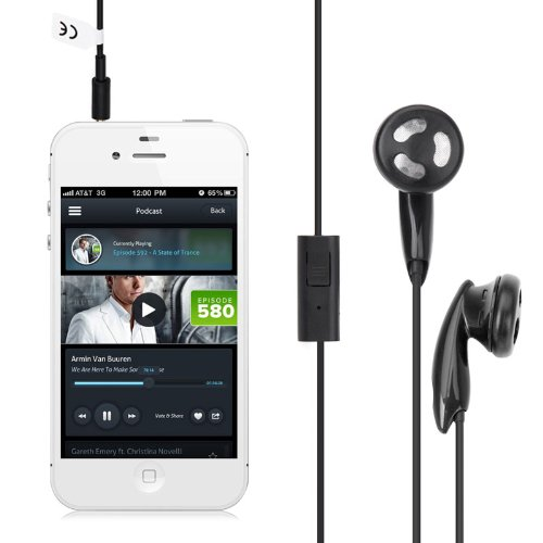 Excelvan 3.5Mm In-Ear Earphone With Mic And Remote For Apple Iphone 4 4S 4G 5 5S 5C;Sony Xperia J St26I S Lt26I U St25I T Lt30 Sl Lt26Ii Play; Htc One X/S/V,Windows Phone 8S/8X,Droid Incredible 4G Lte,Mytouch 4G Hd,Droid Dna 4G Lte,Sensation 4G/ Xl /Xe,De