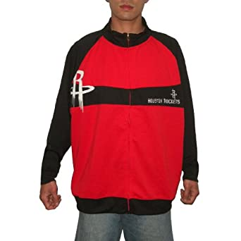 NBA Houston Rockets Mens Zip-Up Sweatshirt Jacket with Embroidered Logo by NBA