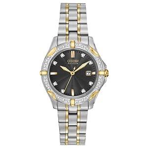 Citizen Women's EW1924-52H Diamonds Analog Display Japanese Quartz Two Tone Watch