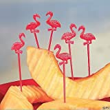 Century Novelty 72 Count Plastic Flamingo Picks, Pink