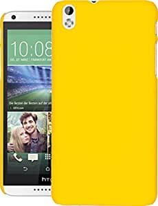 Desire 816 dual Sim Case, QUICKSAND [Extra Slim Fit] Hybrid rubberized Protective Hard Case for HTC Desire 816 dual Sim Yellow
