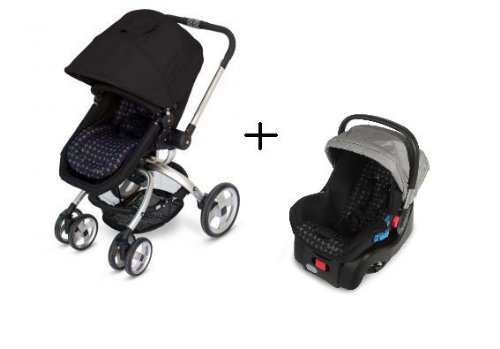 JJ Cole Broadway Stroller WITH Newport Car Seat in Drops