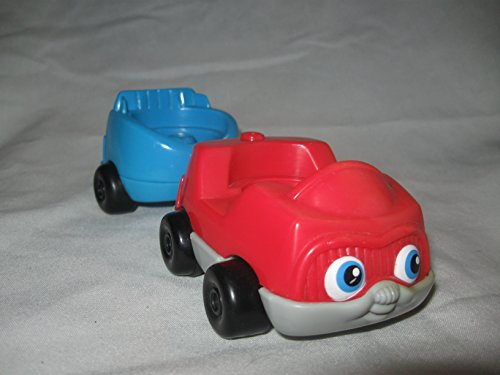 Fisher Price Little People Train Station Airport Bus Stop Village Zoo Complete Tram Car with Back Car Seat OOP - 1