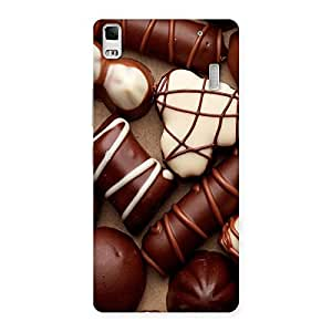 Ajay Enterprises Choclate an sweets Back Case Cover for Lenovo K3 Note