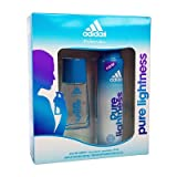 New Adidas Pure Lightness Eau De Toilette 30ml Scent/body Spray Gift Set For Her