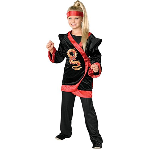 Girls' Red Dragon Ninja Kids Costume