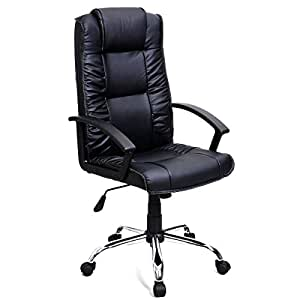 Super Buy PU Leather Ergonomic High Back Executive Computer Desk