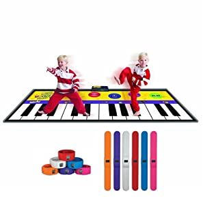 Largest Piano Mat with One Bonus Slap Watch (Color Assorted)