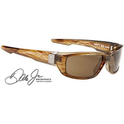 Spy Dirty Mo Sunglasses - Spy Optic Steady Series Polarized Sports Eyewear - Color: Brown Stripe Tortoise/Bronze, Size: One Size Fits All